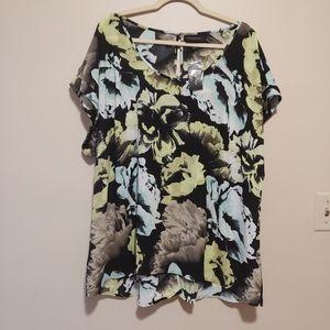 3/$25 Lane Bryant 18/20 floral fall blouse nwt